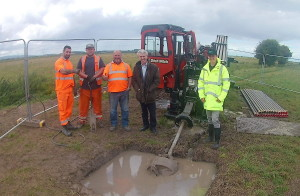 Digging pipeline at the Hams, Somerset