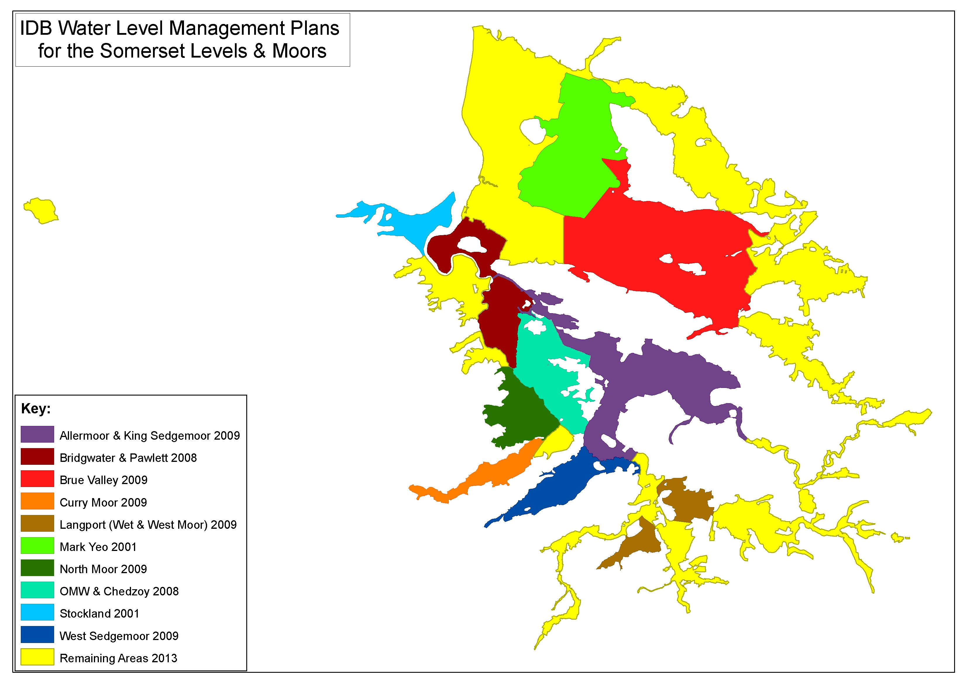 Map of Water Level Management Plan Areas