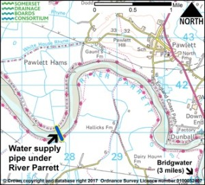 Water supply pipe map