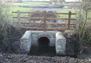 New culvert to connect improve connection between the village drainage system and the rhyne.